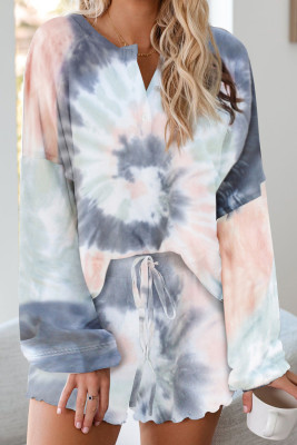 Tie Dye Knit Pajamas Set