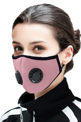 Pink Double Respirator Air Filter Activated Carbon Mouth Face Mask