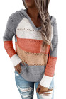 Gray Beach Bonfire Knitted Hoodie