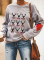 Women's Pullovers Casual Color Block Letter Animal Print Round Neck Long Sleeve Daily Pullovers
