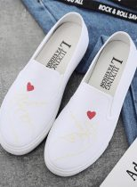 Women's Sneakers Canvas Solid Casual Flat Sneakers