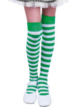 Women's Stockings Striped Holiday Cute Warm Saint Patrick's Day Stockings