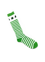 Women's Socks Color Block Letter Saint Patrick's Day Cotton Socks