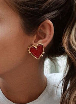 Women's Earrings Holiday Alloy Heart-shaped Cute Earrings