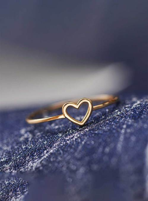 Women's Rings Solid Heart-shaped Cute Alloy Ring