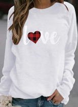 Women's Sweatshirts Letter Print Long Sleeve Round Neck Sweatshirt