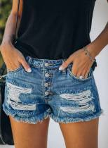 Women's Jeans Shorts Heart-shaped Slim Mid Waist Daily Vacation Date Casual Jeans