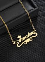 Women's Necklaces Letter Solid Alloy Necklaces