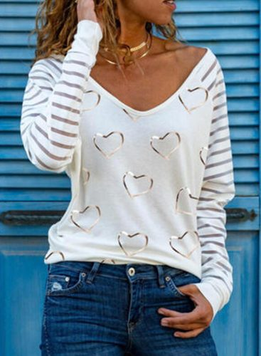 Women's Blouses Holiday Long Sleeve V Neck Daily Casual Sequins Blouse