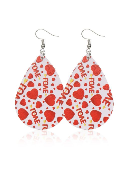 Women's Earrings Color Block Heart-shaped Earrings