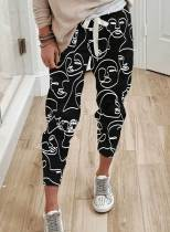 Women's Joggers Abstract Print Straight High Waist Daily Ankle-length Casual Joggers