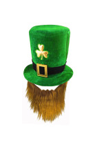 Saint Patrick's Day Irish Festival Hat With Mustache