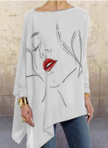 Women's Pullovers Abstract Portrait Long Sleeve Round Neck Daily Pullover