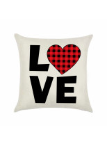 Plaid Heart-shaped Valentine's Day Pillowcase