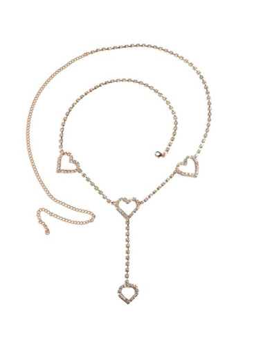 Women's Chains Rhinestone Heart-shaped Waist Alloy Chain