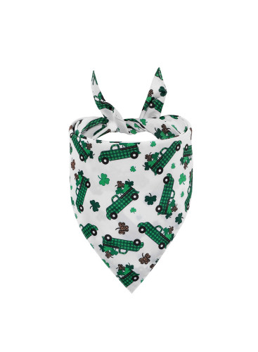 St. Patrick's Day Festival Plaid Pet Triangle Scarf