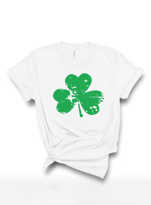 Women's T-shirts Saint Patrick's Day Print Short Sleeve Round Neck Daily T-shirt