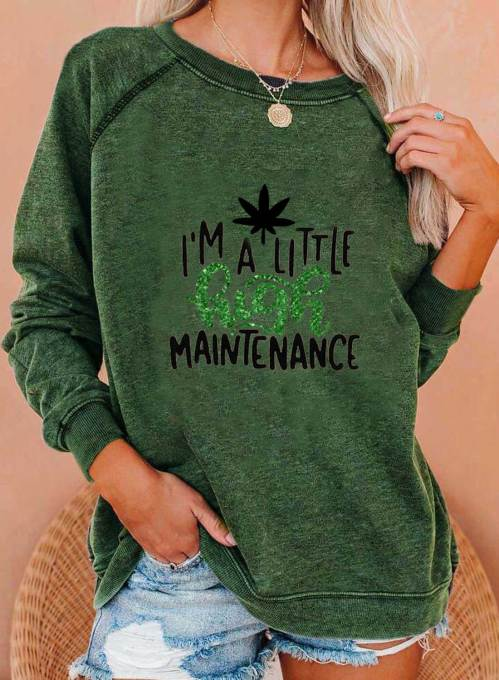 Women's Sweatshirts Letter Long Sleeve Round Neck Casual Sweatshirt