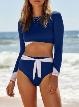 Color Block High Waist Bikini