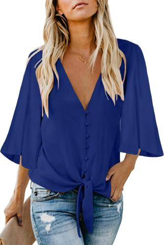 Blue Forever Tonight Button Down Tie Top
