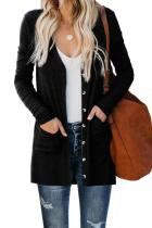 Asvivid Womens Long Sleeve Open Front Snap Cardigans Sweater Button Down Knit Fall Sweater Cardigans With Pocket