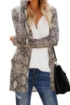 Asvivid Womens Leopard Print Long Sleeve Button Down Open Front Sweater Cardigans Fall Knit Cardigans With Pocket