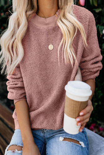 Pink Terry Thread Cashmere Sweatshirt