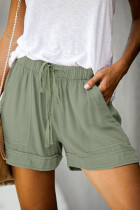 Green Strive Pocketed Tencel Shorts