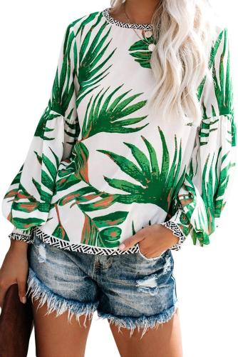 White Floral Printed Blouse