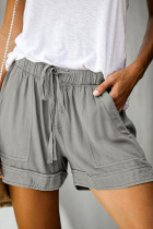 Gray Strive Pocketed Tencel Shorts
