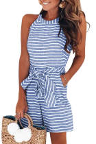 Sky Blue Striped Romper