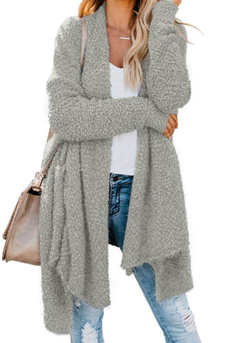 Gray Winter Baggy Cardigan Coat