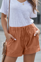 Orange Strive Pocketed Tencel Shorts