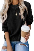 Black Terry Thread Cashmere Sweatshirt
