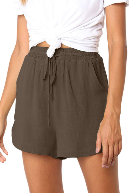 Khaki Summer Casual Shorts