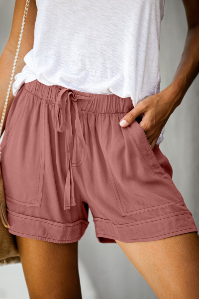 Dusty Pink Strive Pocketed Tencel Shorts