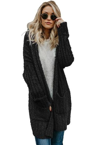 Black Pebble Beach Textured Cardigan