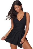 Solid Black Swimdress
