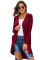 Red Selected Button Down Pocketed High Low Cardigan