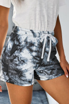 Black Tie Dye Casual Shorts