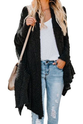 Black Winter Baggy Cardigan Coat