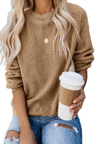Khaki Terry Thread Cashmere Sweatshirt