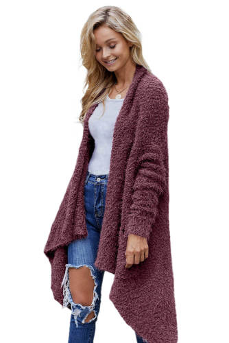 Purple Winter Baggy Cardigan Coat
