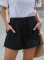 Black Strive Pocketed Tencel Shorts