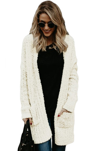Creamy Pebble Beach Textured Cardigan