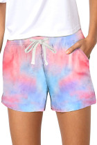 Multicolor Tie Dye Casual Shorts