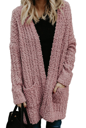 Dusty Pink Pebble Beach Textured Cardigan