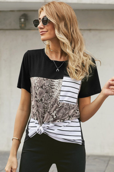 Snake Striped Camo Pocket T-Shirt
