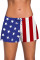 Patriotic American Flag Women Swim Boardshort