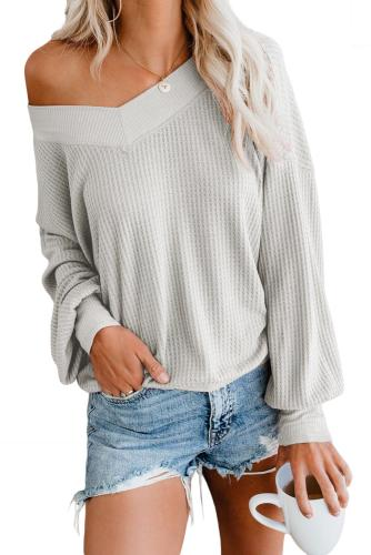 White Our Country Roads Thermal Top